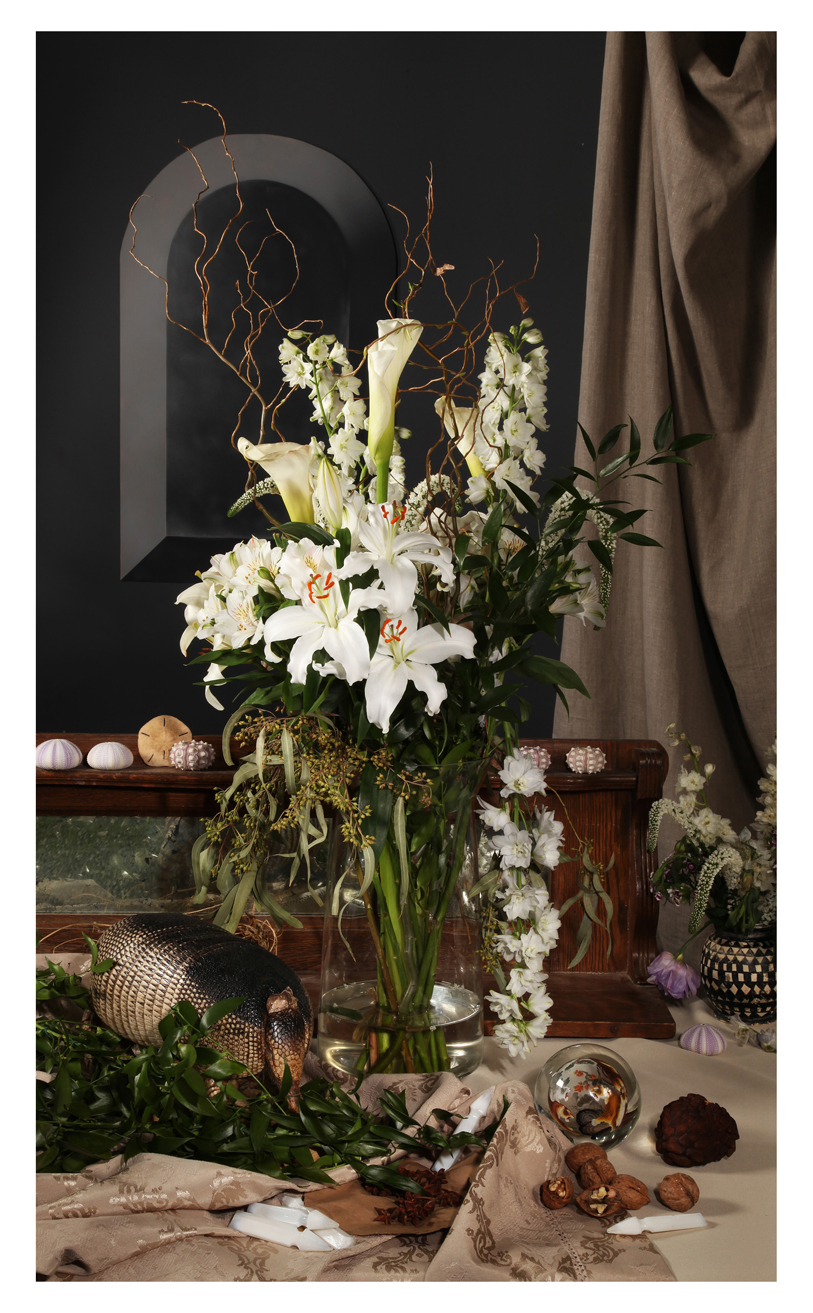 White Lilies with Armadillo , 2018