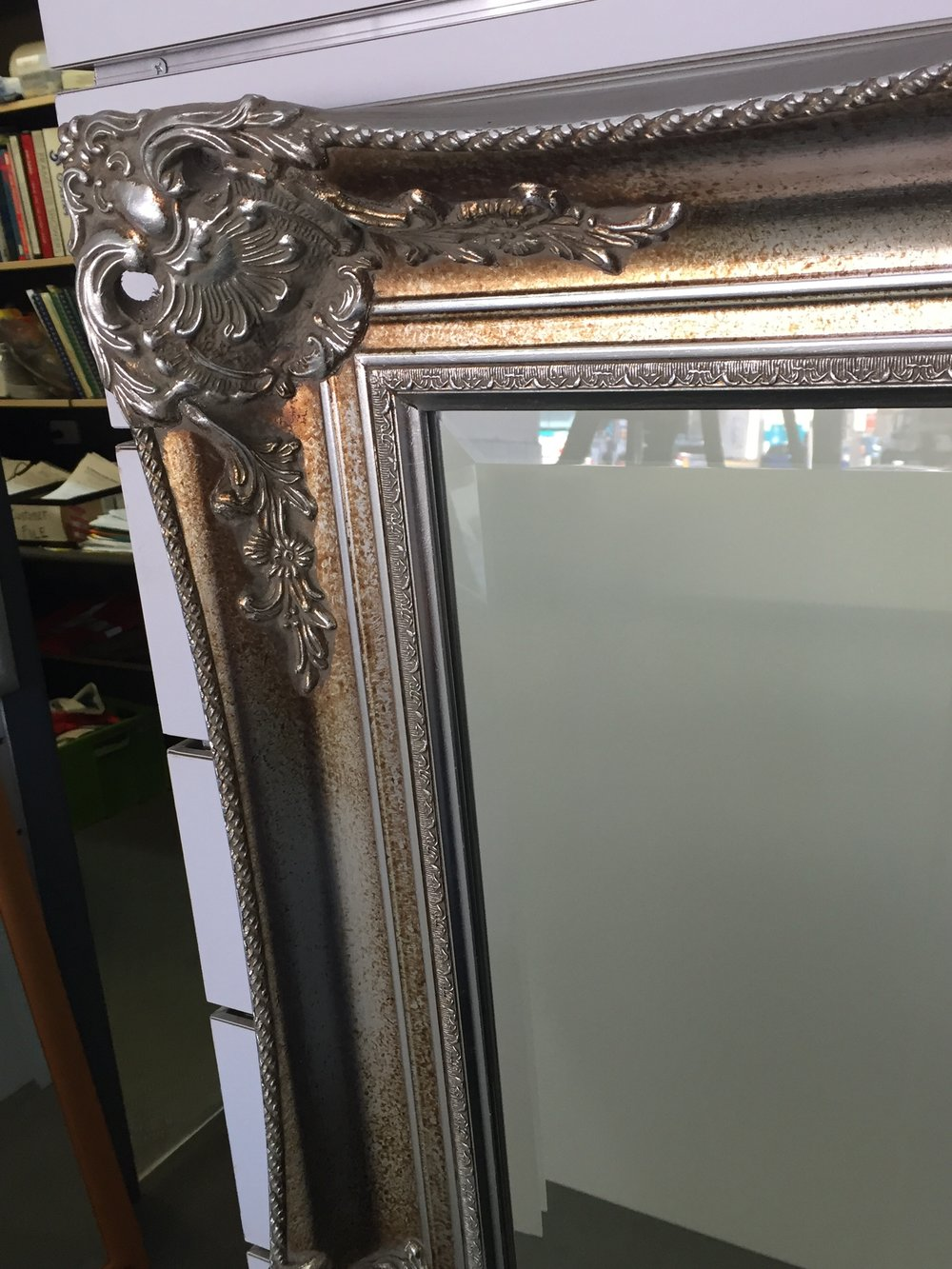 'Silver Renaissance' frame with bevelled mirror close up.jpg