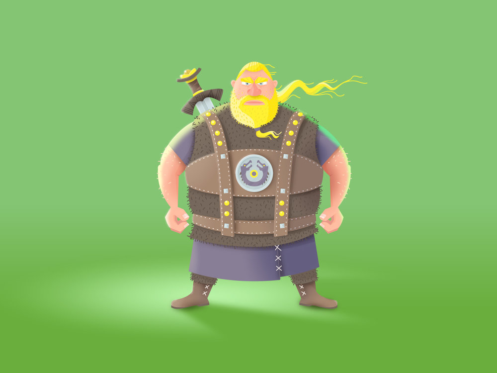 Character Design des Wikinger Ragnar von Elisabeth Deim