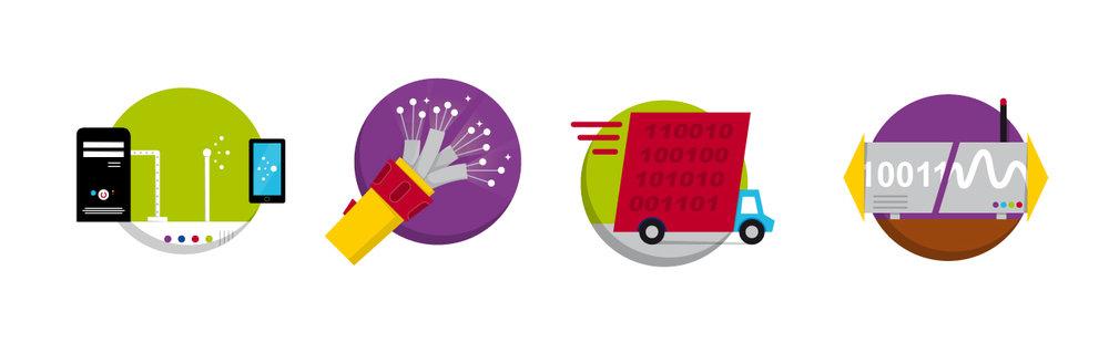 """Icon Set zum Thema """"Internet""""von Elisabeth Deim"""