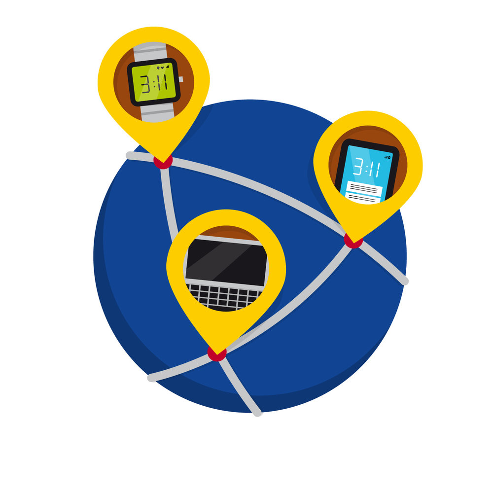 """Icon Design zum Thema """"Internet und Netzwerk"""" von Elisabeth Deim"""