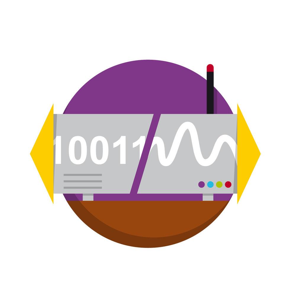 """Icon Design zum Thema """"Modem und Router""""von Elisabeth Deim"""