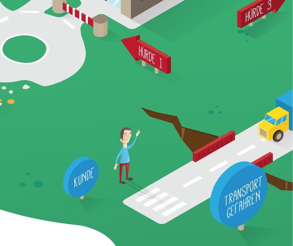 Detail zur Editorial Infografik über e-Commerce von Elisabeth Deim