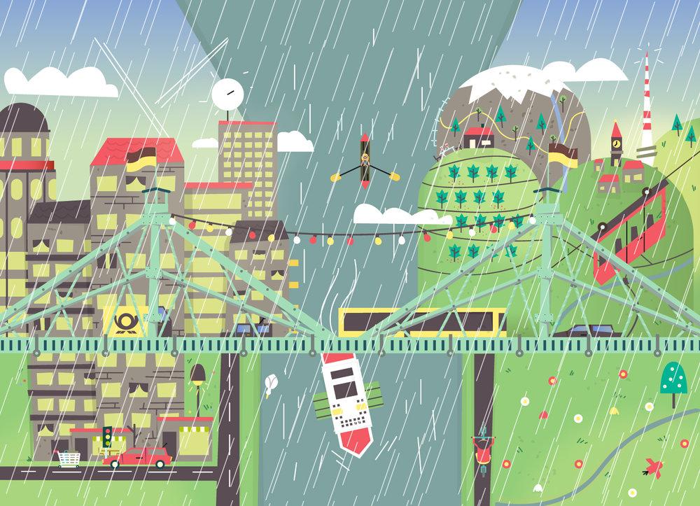Wimmelbild Illustration von Dresden im Frühling von Elisabeth Deim