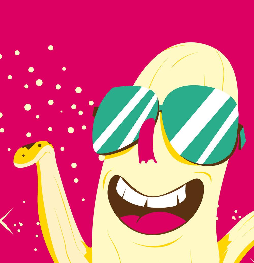 Detail des Character Design einer Banane von Elisabeth Deim