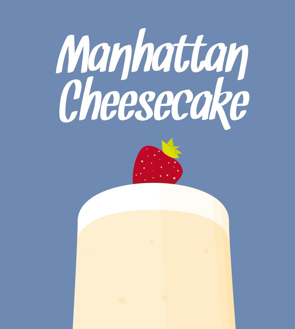 """Detail zur Infografik """"Manhattan Cheesecake"""" von Elisabeth Deim"""