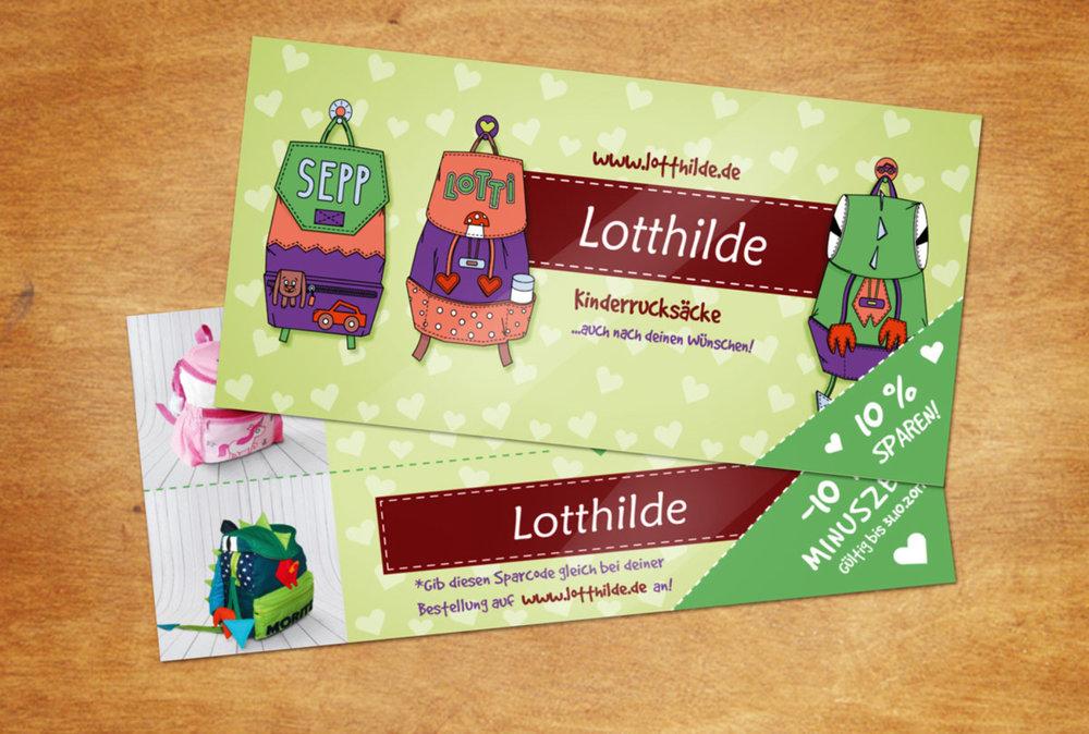 Illustrationen für ein Gutschein Design für Lotthilde von Elisabeth Deim