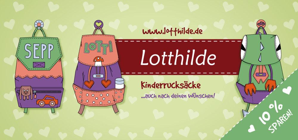 Vorderseite mit llustrationen für ein Gutschein Design für Lotthilde von Elisabeth Deim