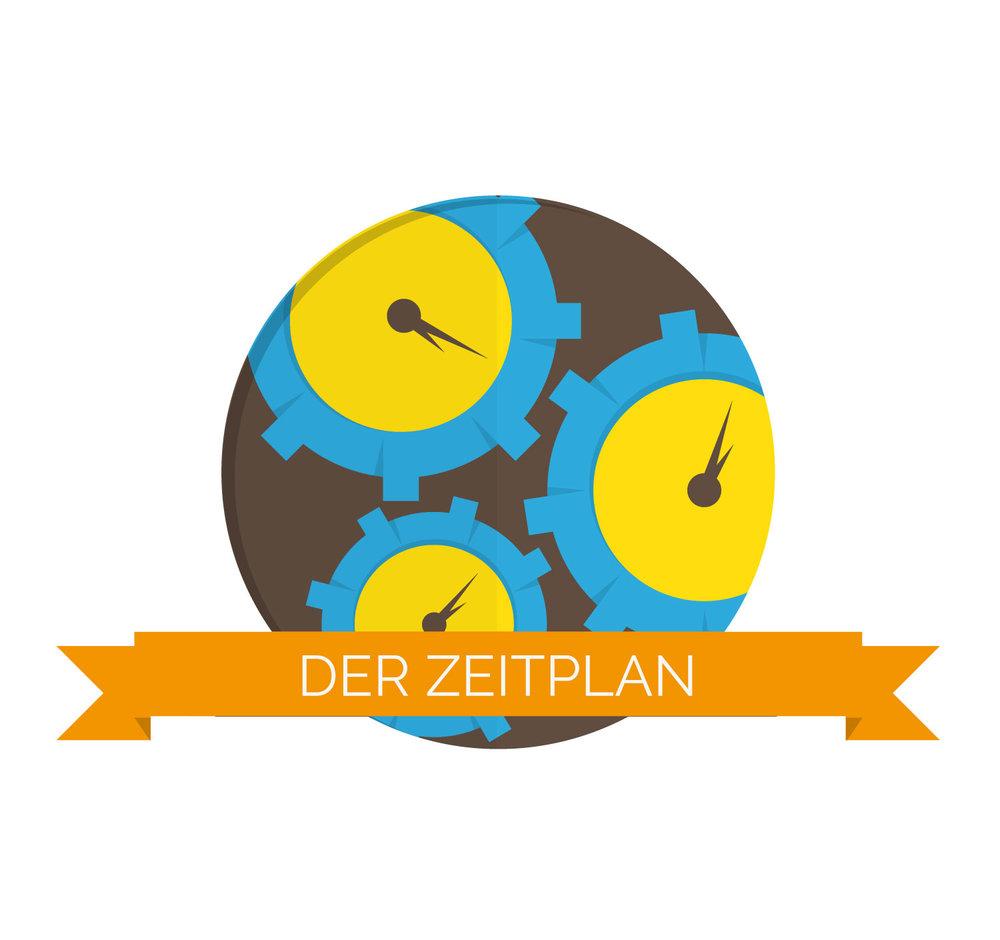 Icon Design Zeitplan im Briefing von Elisabeth Deim