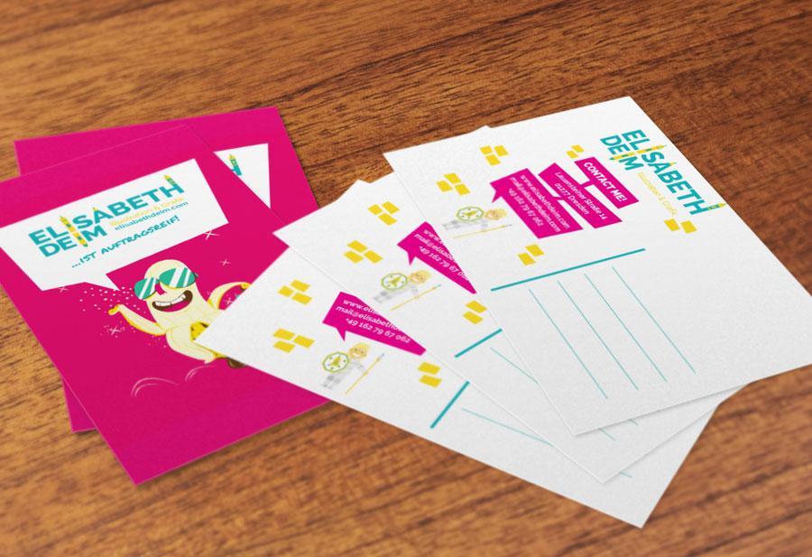 Mailing Aktion mit dem Character Design Banane von Elisabeth Deim