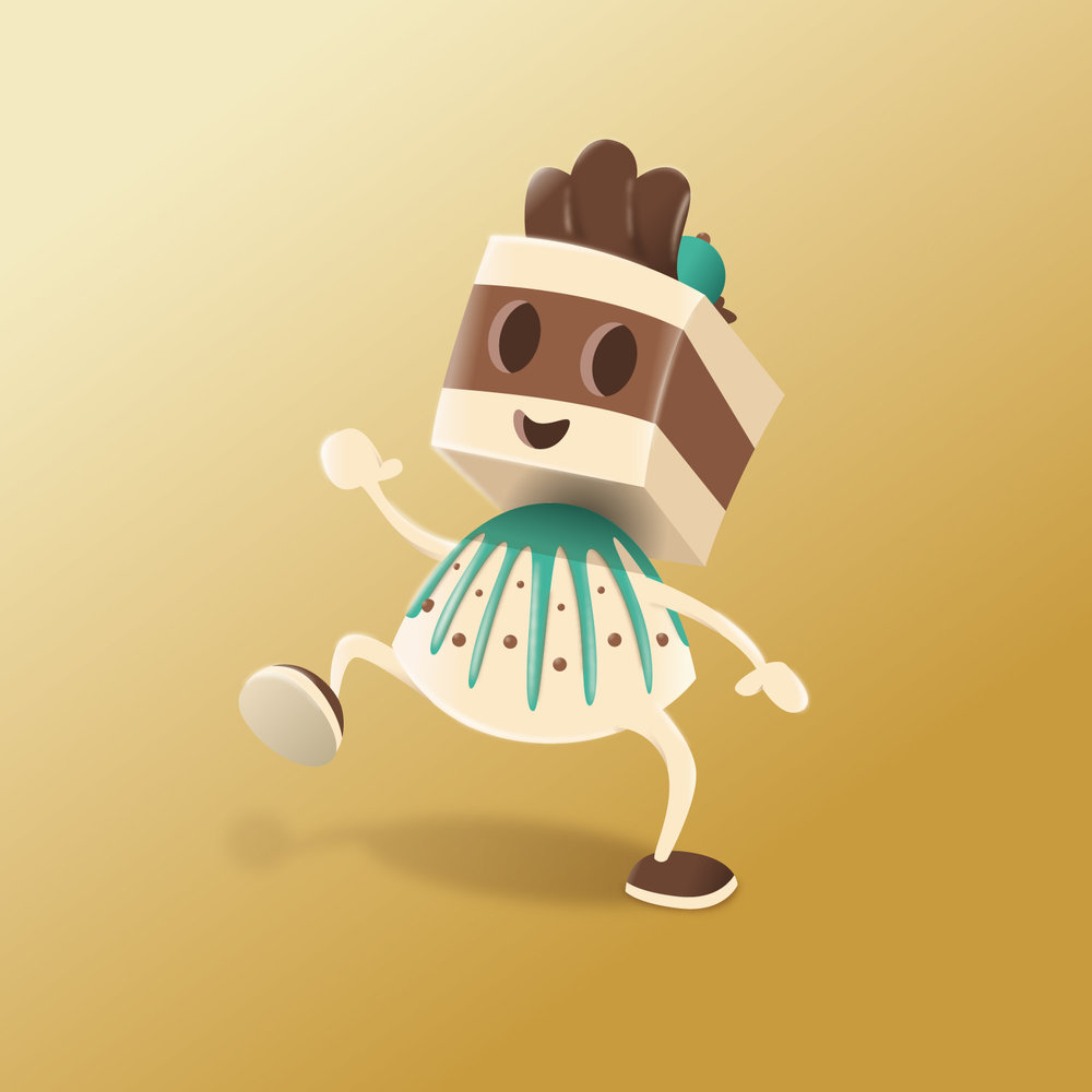 """Character Design """"Chocolady"""" einer Praline aus Schokolade von Elisabeth Deim"""