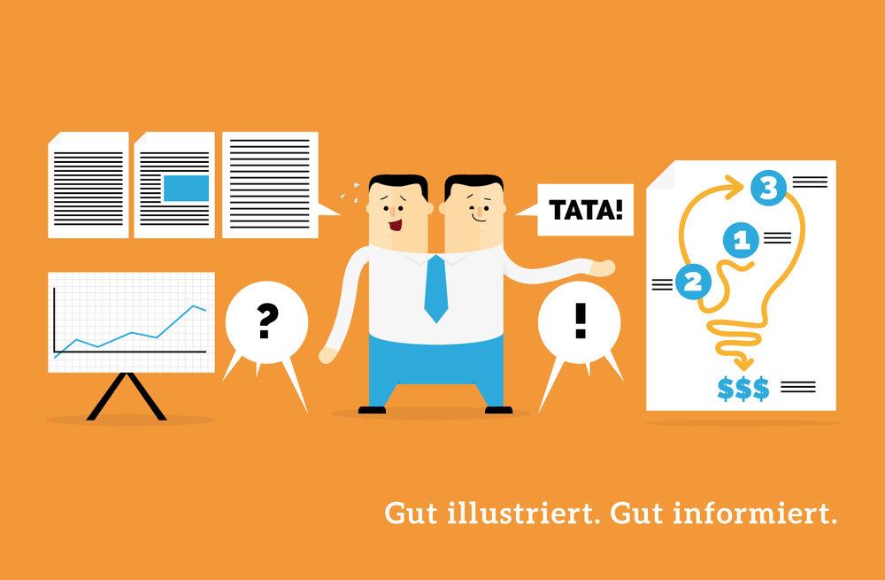 Mini Infografik über Infografiken von Elisabeth Deim