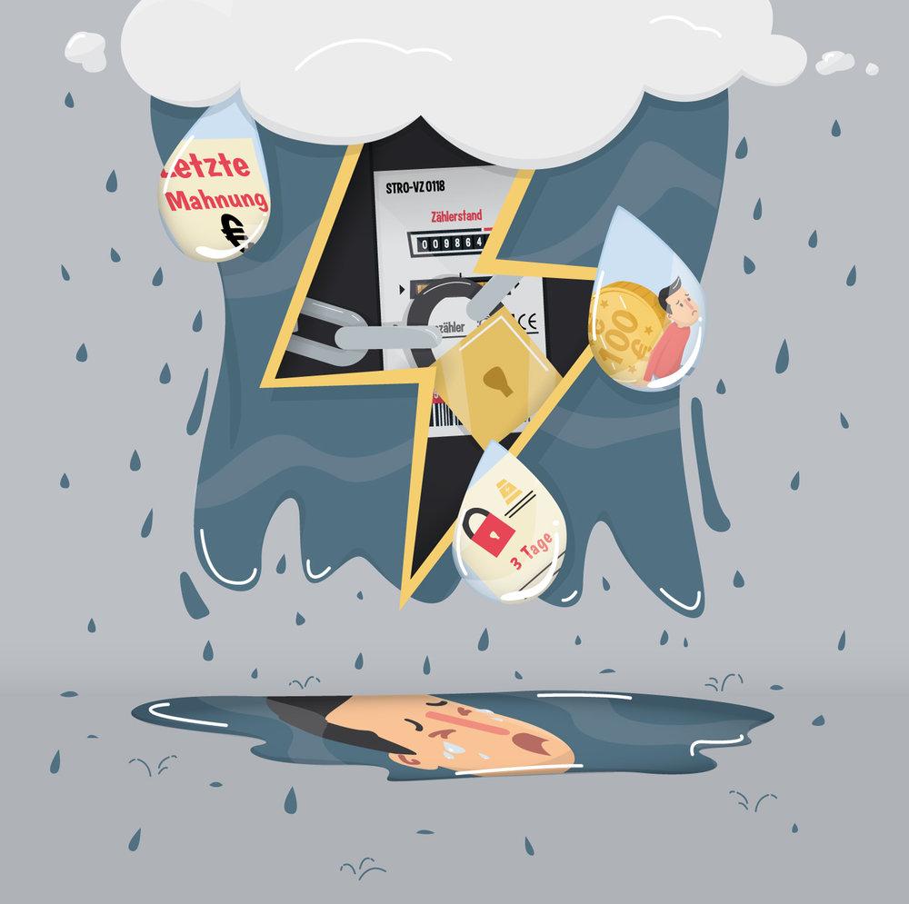 Titel Illustration Eine Energiesperre fällt nicht vom Himmel - Elisabeth Deim
