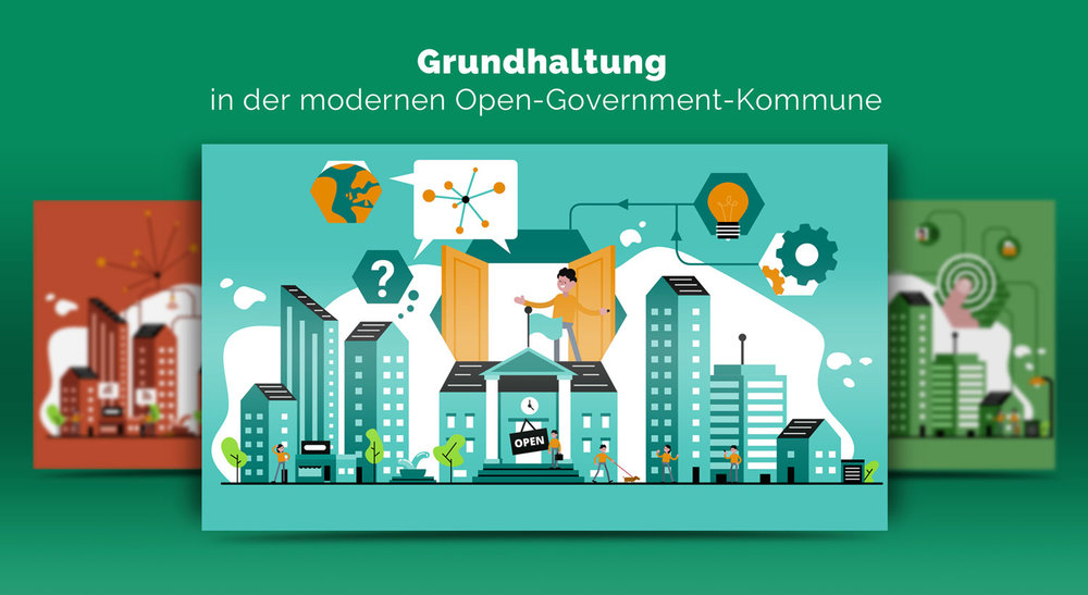 Illustrationen zur Grundhaltung im Open Government / Elisabeth Deim