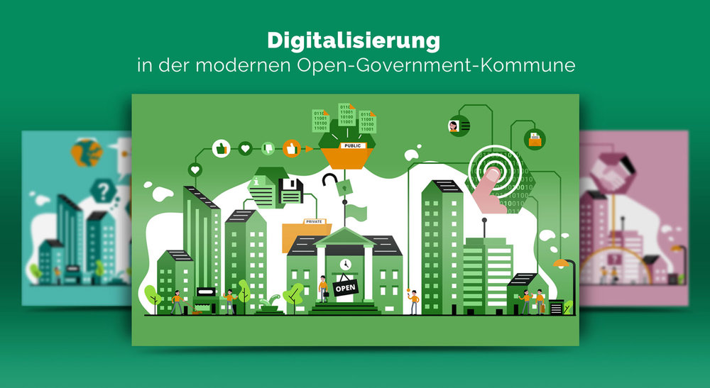 Illustrationen zur Digitalisierung im Open Government / Elisabeth Deim