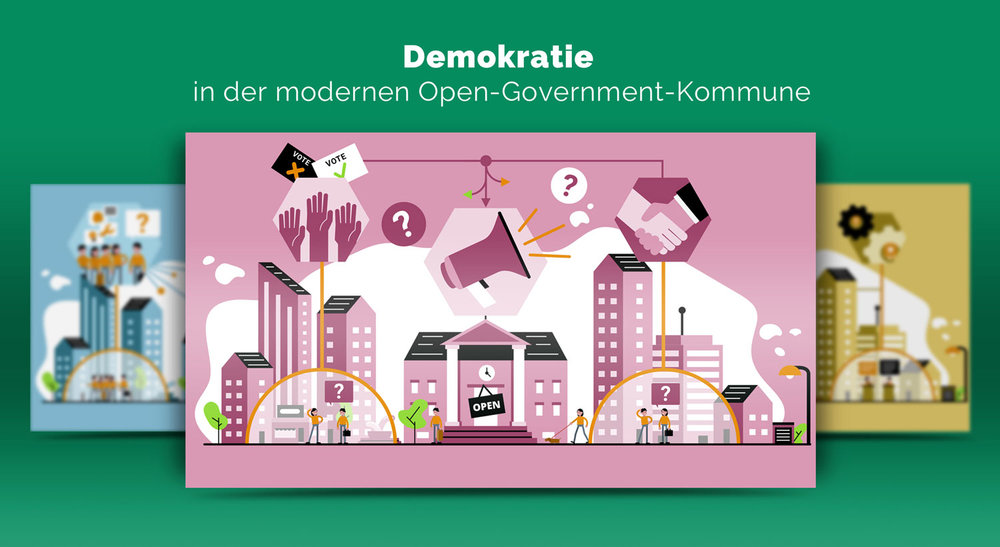Illustrationen zur Demokratie im Open Government / Elisabeth Deim