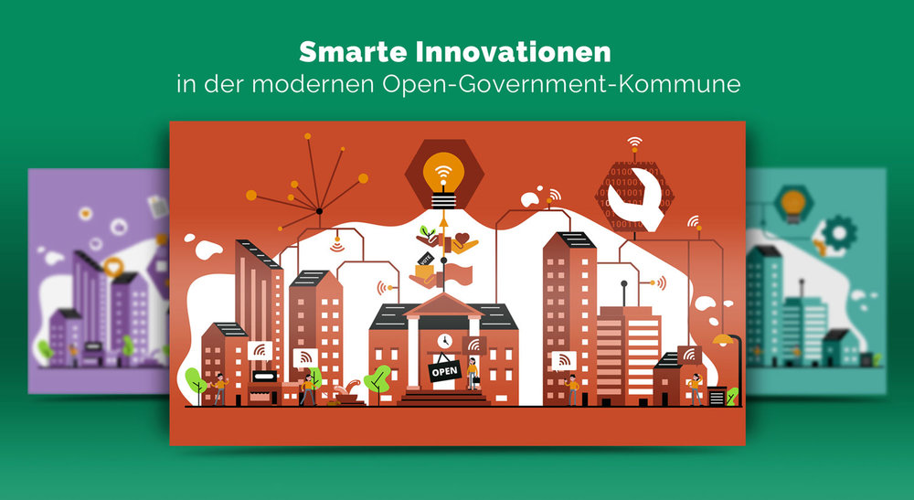 Illustrationen zur Innovation im Open Government / Elisabeth Deim