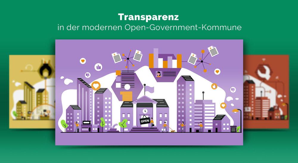 Illustrationen zur Transparenz im Open Government / Elisabeth Deim