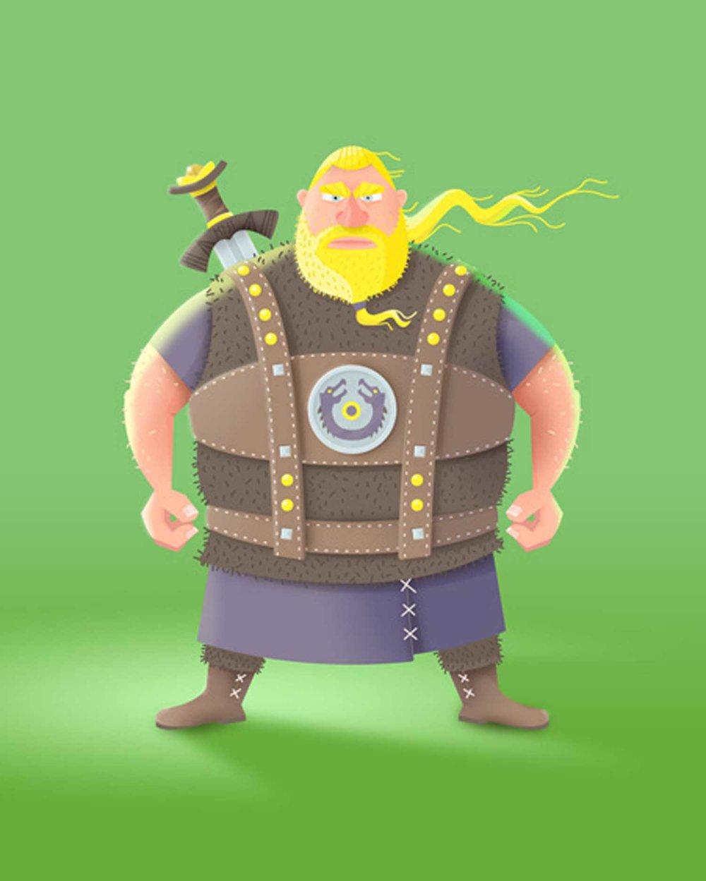 """Character Design """"Ragnar der Wikinger"""" von Elisabeth Deim"""