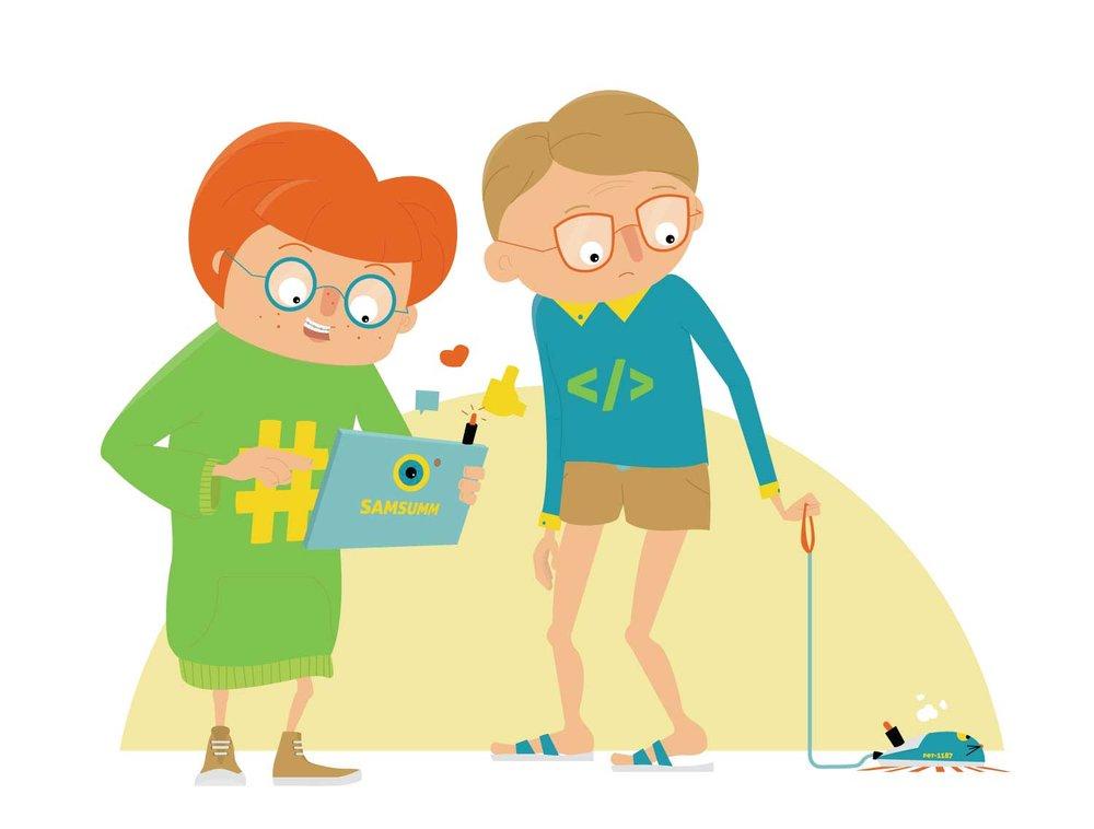 Character Design von Nerd und Geek Teenagern von Elisabeth Deim