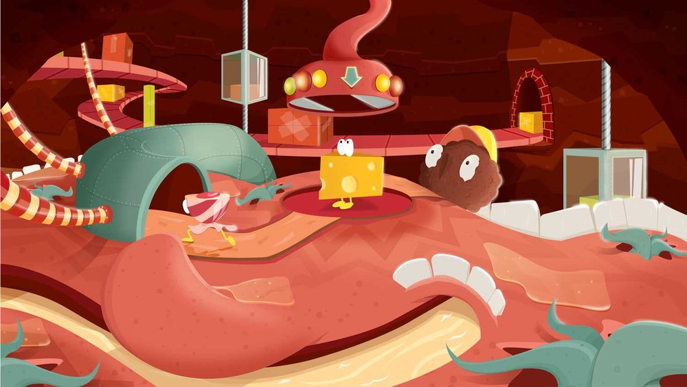 Illustration - Elisabeth Deim - Verdauung im Mund für Kinder