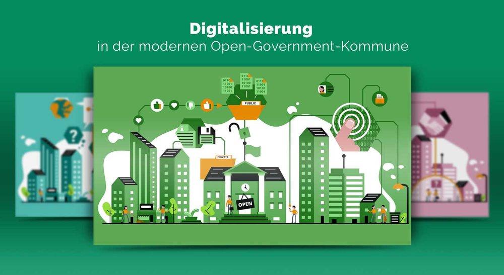 Vorschau zu den Illustrationen Open Government von Elisabeth Deim