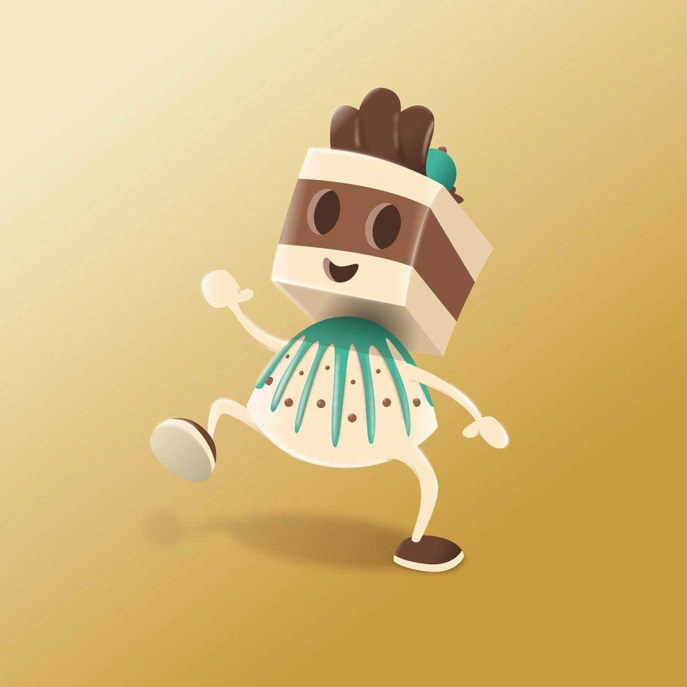 """Character Design der Praline """"Chocolady"""" von Elisabeth Deim"""