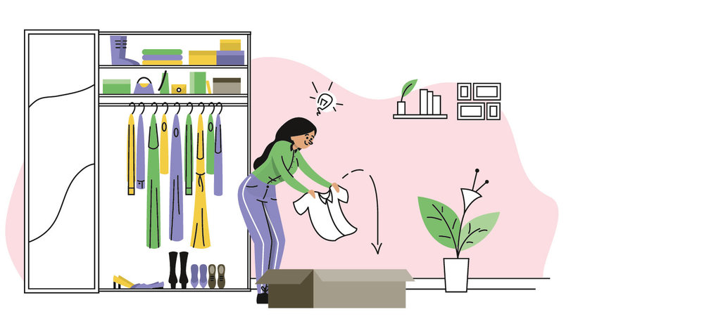 Editorial Illustration - Textilsammelprogramm - Aussortieren - Elisabeth Deim