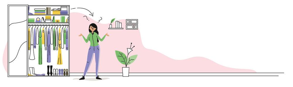 Editorial Illustration - Textilsammelprogramm - Kleiderschrank - Elisabeth Deim