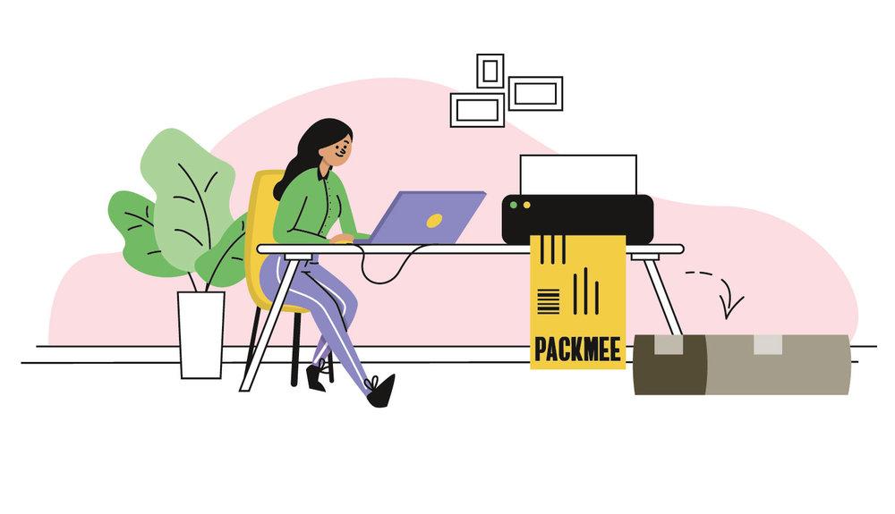 Editorial Illustration - Textilsammelprogramm - Verpacken - Elisabeth Deim