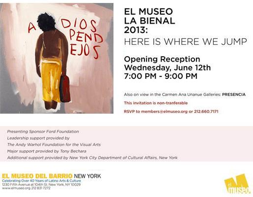 La Bienal 2013 - invite