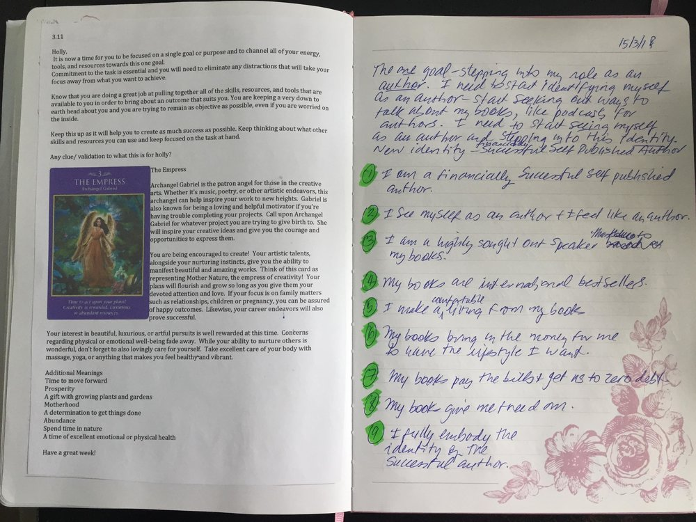- Holly uses her Weekly Messages to journal with throughout her week.