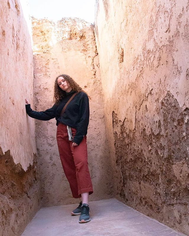 Casually posing with ruins.  Marrakech video coming soon🙈