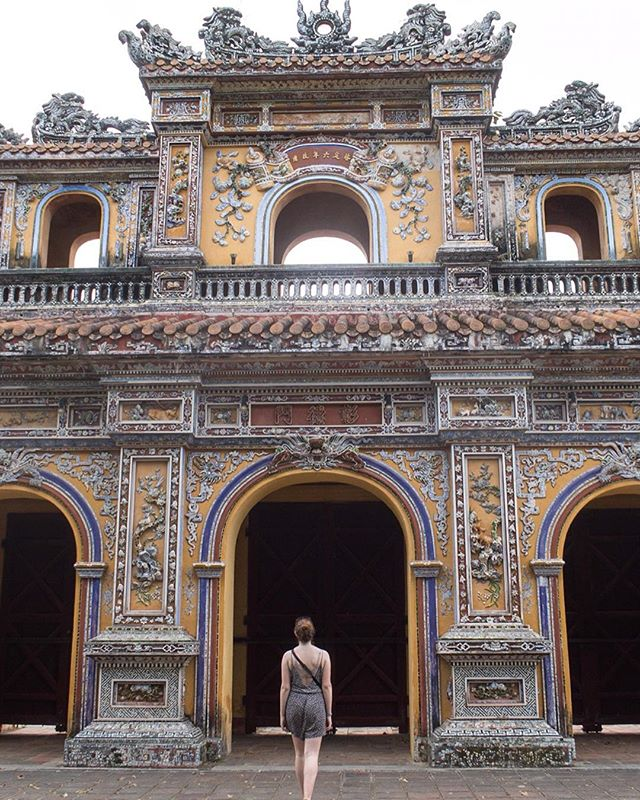Not where I am now, but here a shot from The imperial city in Hue, Vietnam. It was an enormous place with countless gates and gardens, each one more beautiful than the next.