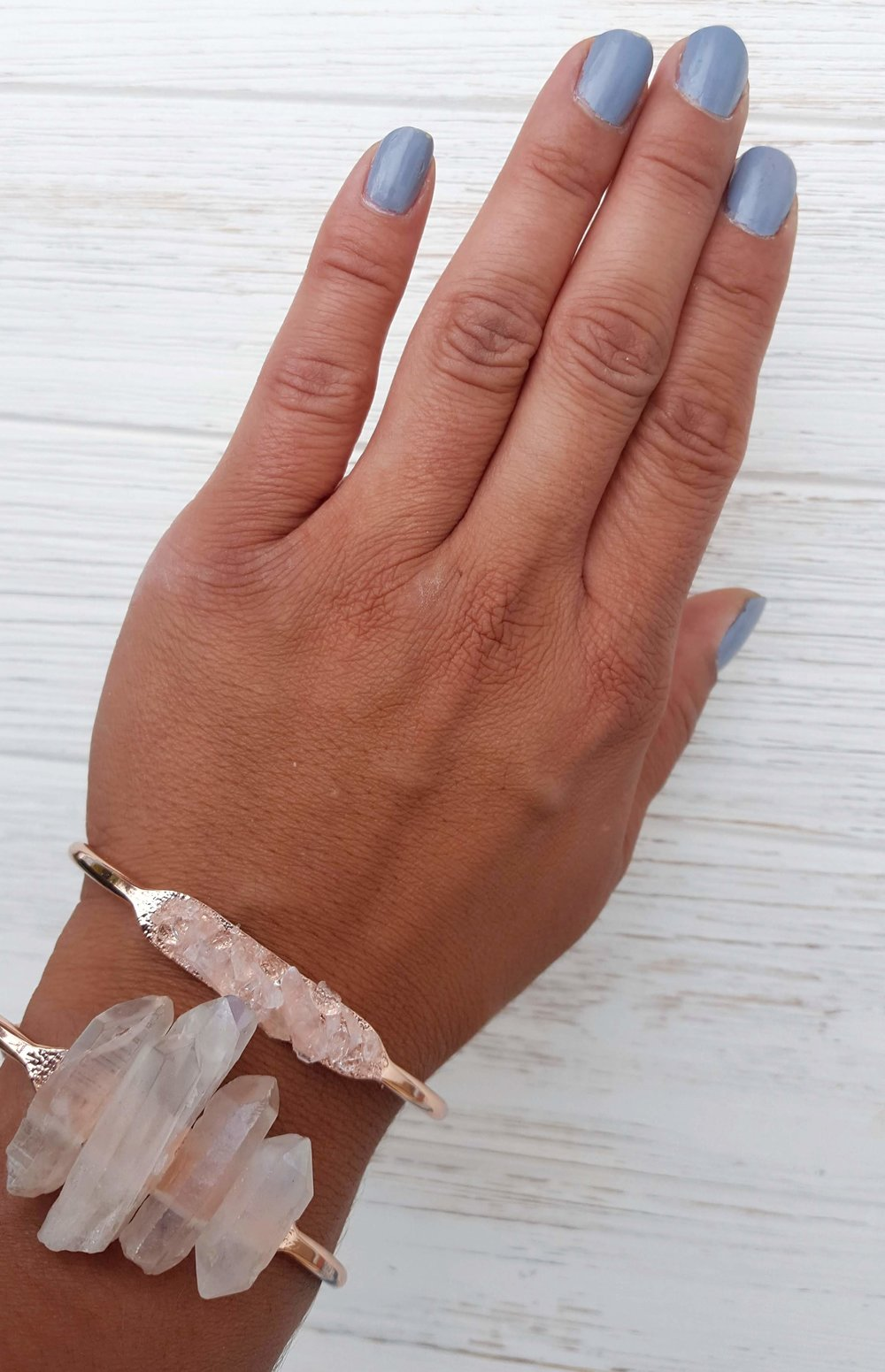 5a191024d05544 Rose Quartz Cuff Bracelet Raw Rose Quartz Jewelry Raw Gemstone Jewelry