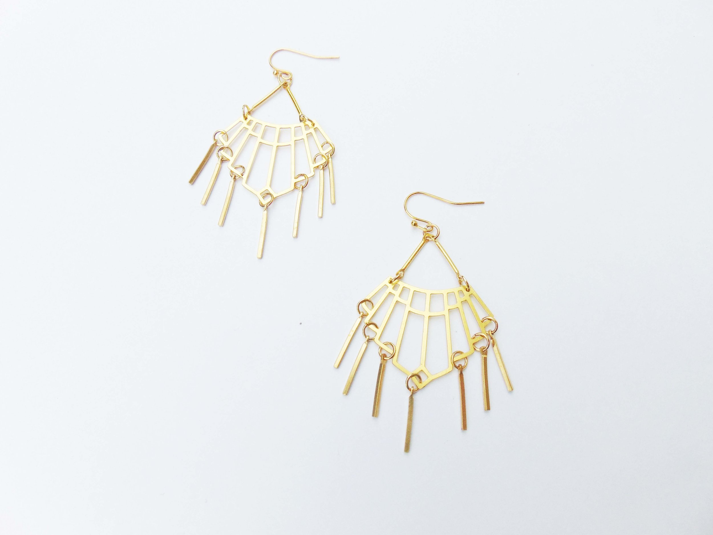 165c9855720a9c Gold Chandelier Earrings Modern Party Jewelry Womens Holiday Jewelry Dangle  Party Earrings Geometric Chandelier Earrings Dynamo