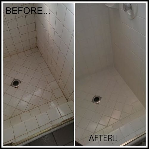 Tile Grout - Bathroom tiles stain remover
