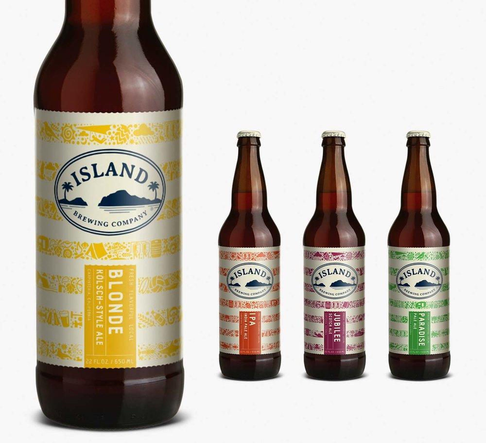 Island Brewing Craft Beer Can Design Ebbing Branding Design