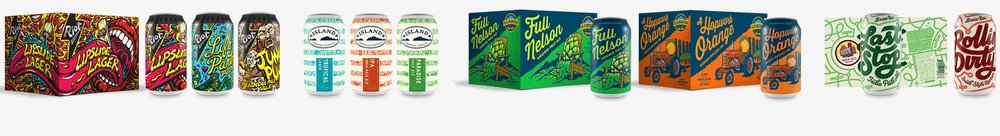 Craft Beer Can Design, Beer Can Box Carrier Design. ©Danno The Manno, Inc.