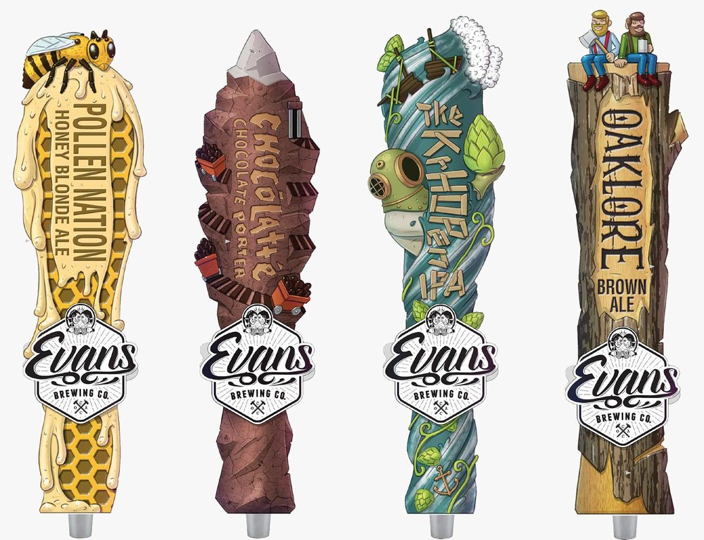 Creative, conceptual, custom tap handle design.