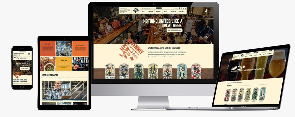 Immersive craft brewery website - fully custom, 100% responsive, developed with a mobile-first perspective on user experience.