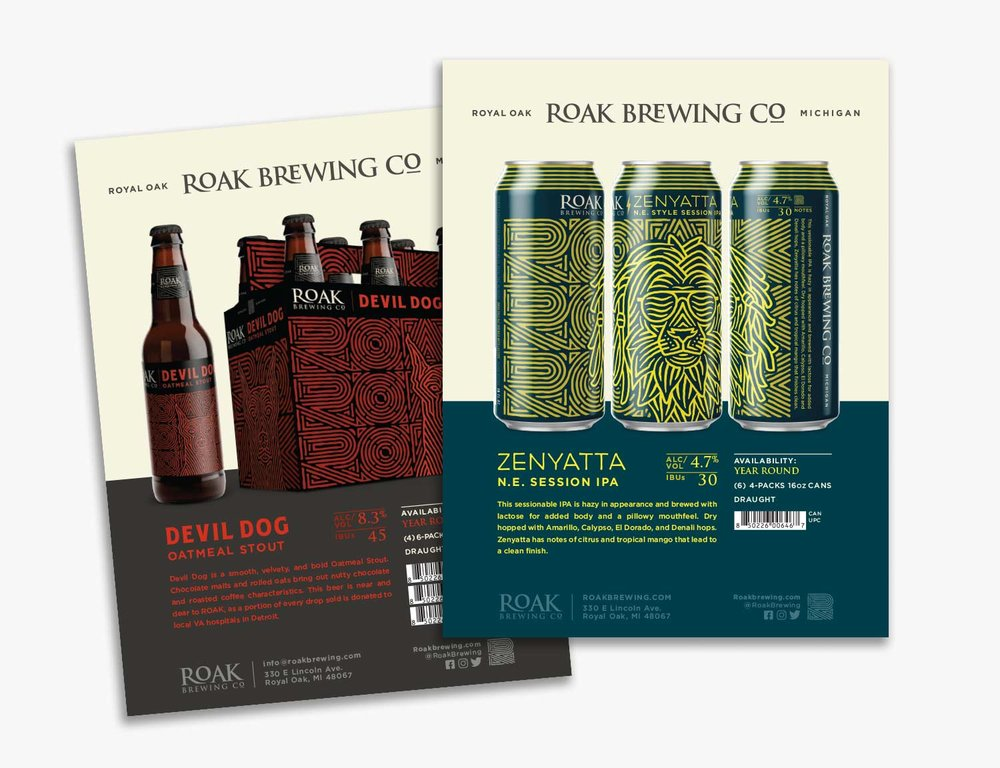 Craft Brewery Sales Sheet Designs