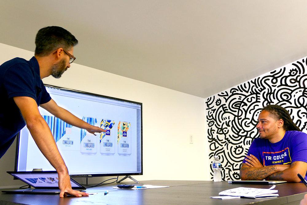 Matt Ebbing of Ebbing Branding + Design, with Cory Wrisborne of Tru Colors