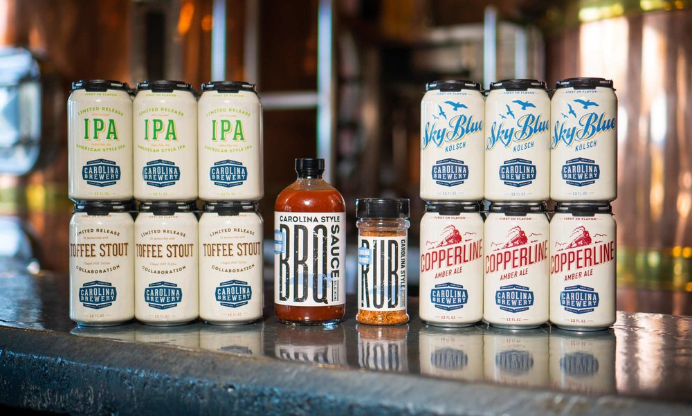 Carolina Brewery Rebrand: Craft Beer Can Design and Logo Design by Ebbing Branding + Design