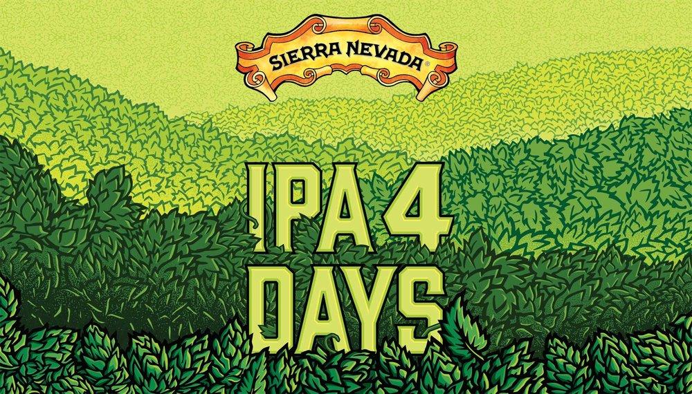 Custom illustration for Sierra Nevada IPA 4 DAYS