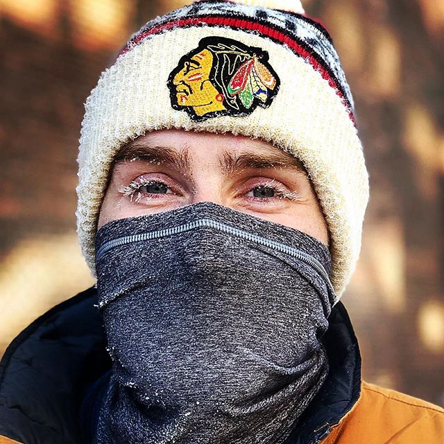 Guess it's a little cold out today.... chilly walk home from @ctfchicago this morning and got some icicle lashes #chiberia #balmy #minusthirty #survivalofthefittest #layers 📸: @masters_say