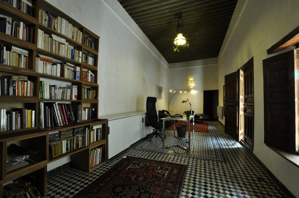 Library of Dar7louyat - Riad in Fez