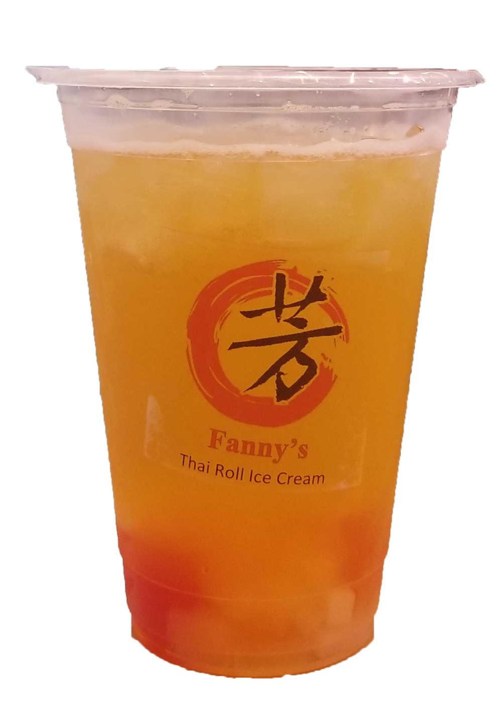 Pineapple flavor green tea with Pineapple and Rainbow Jelly