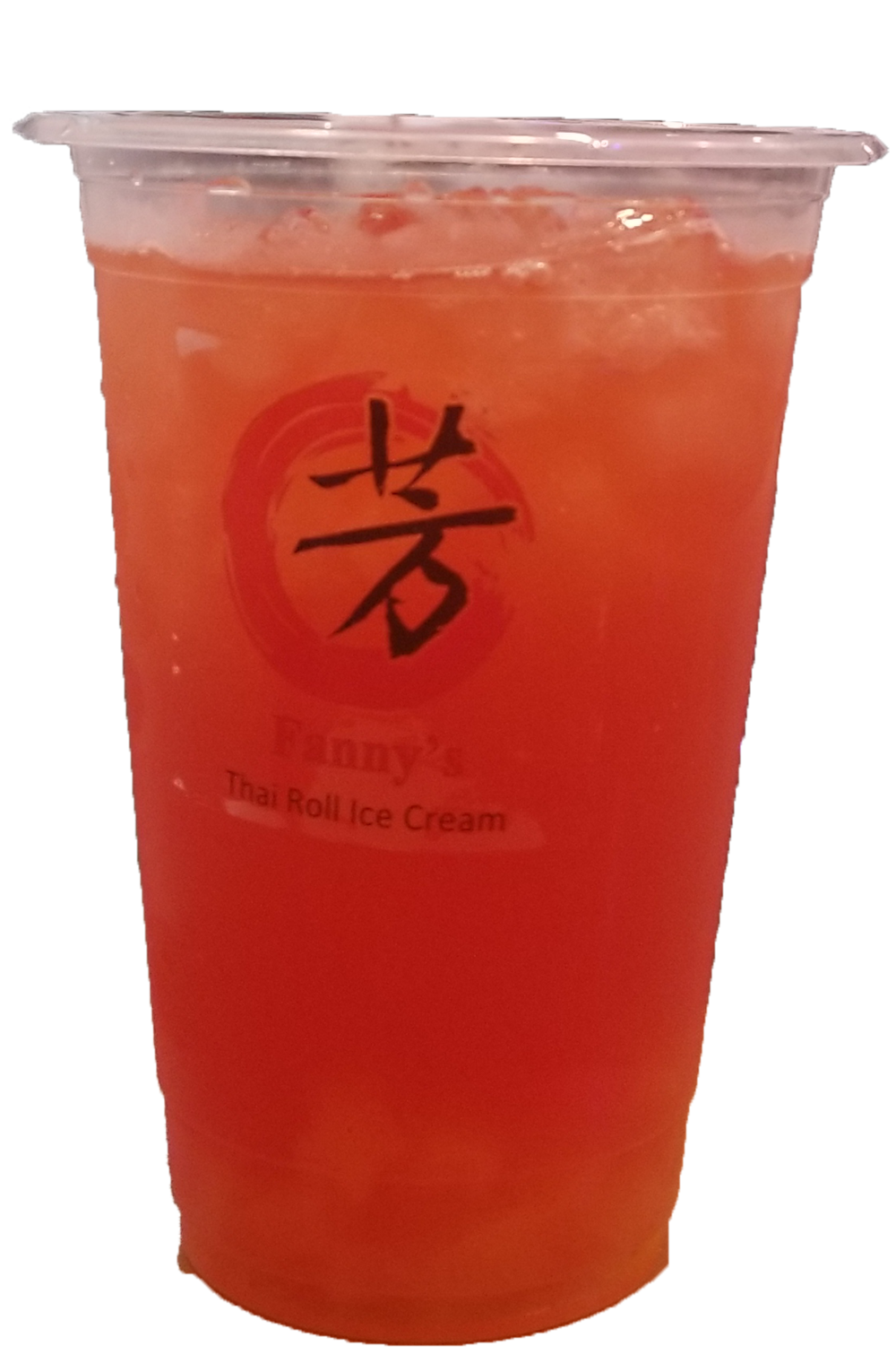 Strawberry and Mango flavor green tea with Passion Fruit, Mango and Strawberry Jelly