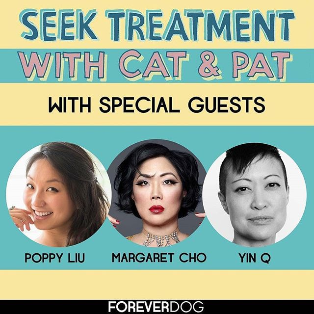 "Creator @yinq13, Executive Producer @margaret_cho and Star @poppyrepublic talk about BDSM, Mercy Mistress, dating and love on an episode titled ""Make a Fuckboard"" on the podcast #SeekTreatment with @catccohen @poregan @foreverdogteam 🖤 Link to listen bit.ly/SeekTreatmentMM #MercyMistress #SeekTreatment  #webseries #podcast"